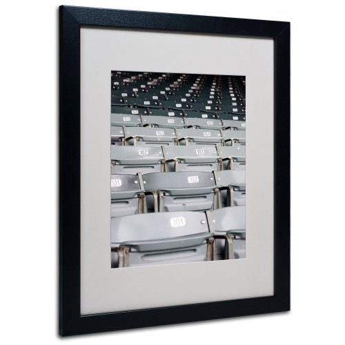 Field Stadium Seat (Trademark Fine Art Wrigley Chicago by Yale Gurney Canvas Art, 16 by 20-Inch, Black)