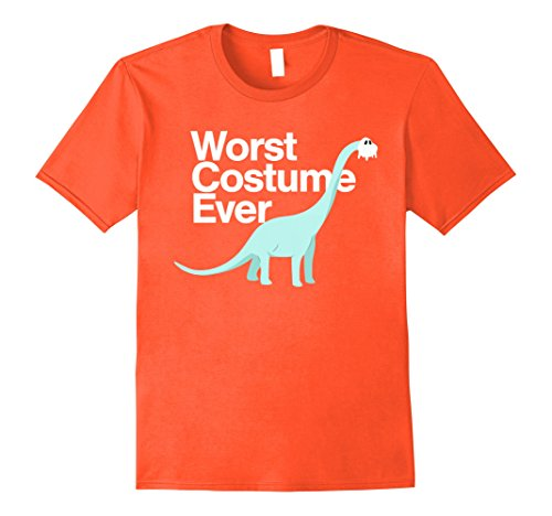 Mens Worst Costume Ever Funny Dinosaur Halloween Shirt Kids Adult XL Orange (The Worst Halloween Costumes 2017)