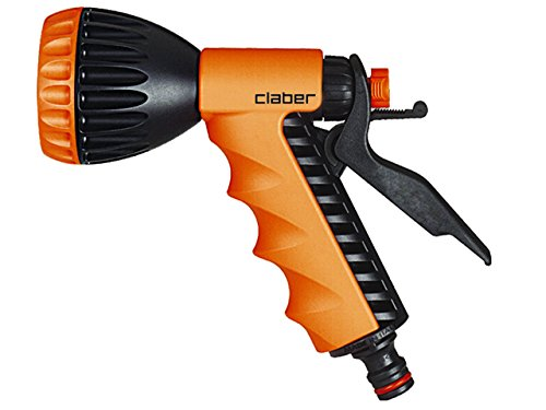 Claber 51845 8541 Ergo Spray Pistol, Shower, Black/Orange