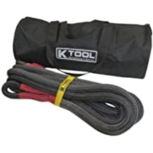 """K-Tool International (KTI73823) Recovery Tow Rope - 7/8"""" x 30', Red Eyes"""