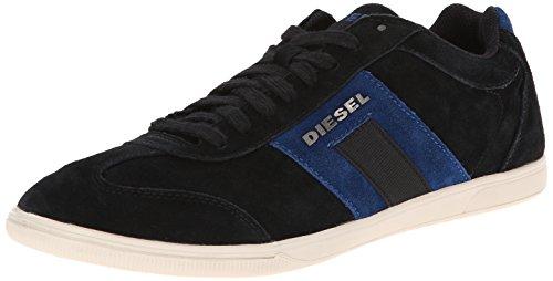 Diesel Menns Lykkelige Timer Vintagy Salong Mote Sneaker Antrasitt / Nautisk Blå