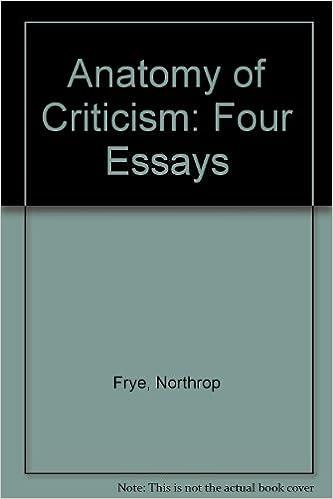 Amazon.com: Anatomy of Criticism: Four Essays: Northrop Frye: Books