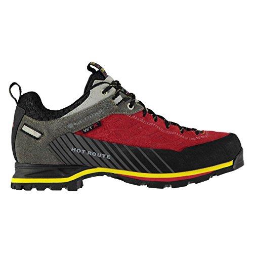 Karrimor Mens Hot Route WTX Waterproof Walking Shoes Red/Grey 7dmPu