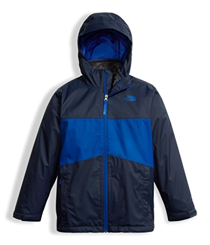 The North Face Boy's Chimborazo Triclimate Jacket - Bright Cobalt Blue - S (Past Season) (The Face Kids Jacket North)
