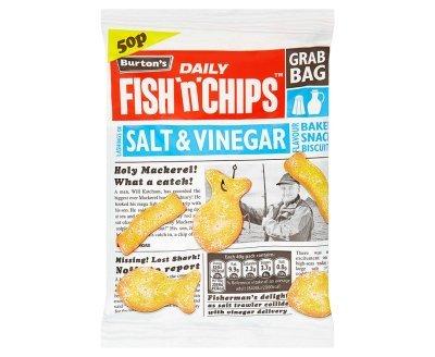 Burtons Daily Fish n Chips Salt & Vinegar Grab Bag (40g x 30)