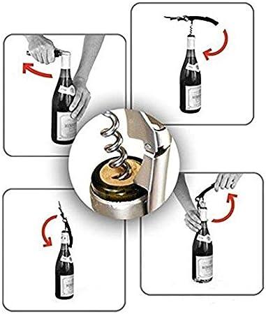 SHENGPAIN Práctico Sacacorchos Parrot Sacacorchos de Acero Inoxidable Latas de Vino Botella de Cerveza Bar Herramienta