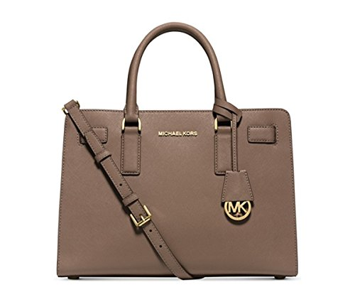 09223ce33a MICHAEL Michael Kors Dillon East West Satchel (Dark Dune Gold)  Handbags   Amazon.com