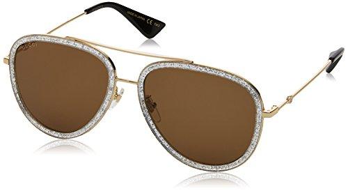 Gucci GG0062S 004 Gold 0062S Pilot Sunglasses Lens Category 3 Size ()