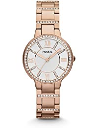 Fossil Women's ES3284 Virginia Crystal-Accented Rose...