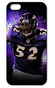 The NFL stars Ray Lewis from Baltimore Ravens team custom design case cover for iphone 5 5S