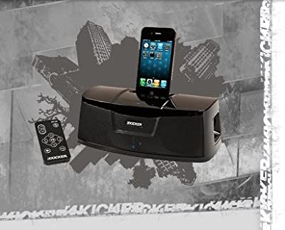 Kicker iK100 Docking Station for iPod/iPhone (Black) by Kicker USA
