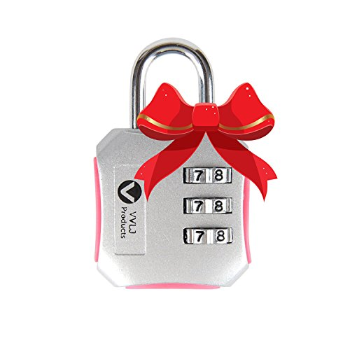 Luggage Travel Gym Lock with 3 Digit Easily Customizable Code Combination Padlock Bike Lockers Gym Travel Bags and Suitcases Get It Now and Be Safe