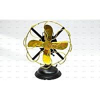 Sailors Art Brass Vintage Look Golden Table Fan 13