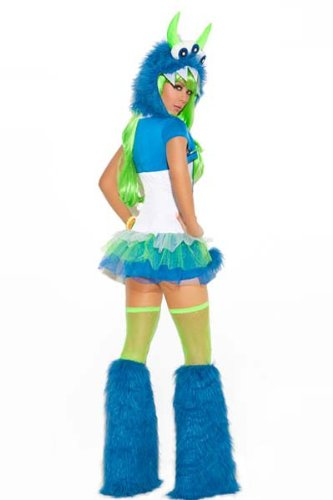 Three Eyed Monster Costume Dress Halloween Cosplay USA -