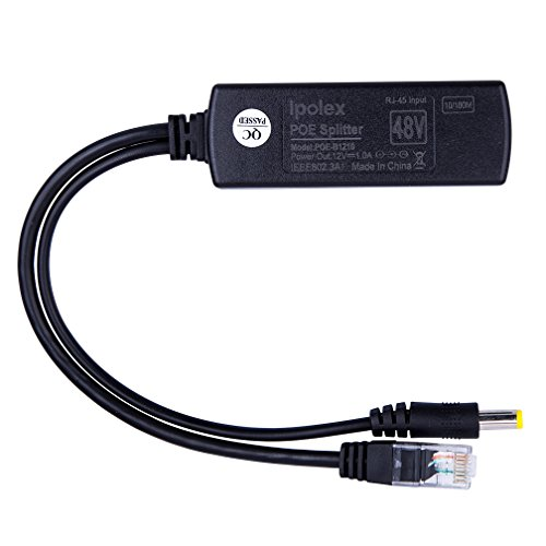 2-Pack Active PoE power over ethernet Splitter Adapter 48V to 12V, IEEE 802.3af Compliant 10/100Mbps PoE Splitter With 12V output for Surveillance Camera, ipolex by ipolex (Image #2)