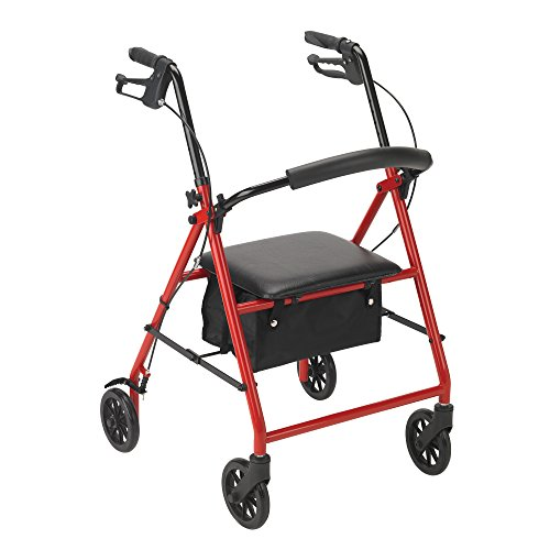 Drive Medical R800RD Rollator Red