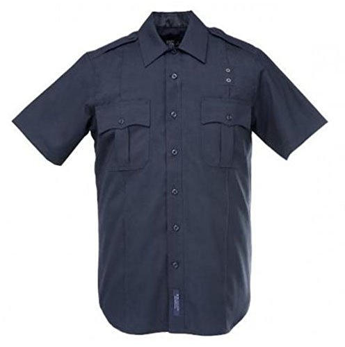 Men's 5.11 Tactical Class B Taclite PDU Short-sleeved Shirt Midnight Navy, MIDNIGHT NAVY, LG (Police Uniforms For Sale)