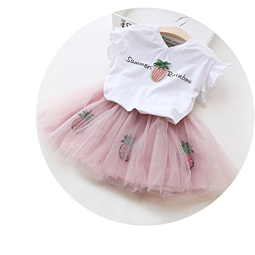 2018 Girls T-Shirt+Shorts Outfits Kids Tracksuit Toddler Clothing Sets]()
