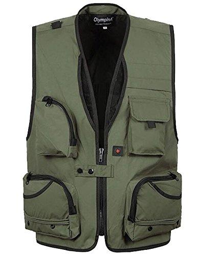 MJJ/ Outdoor Weste. Mode Dengshansheshui Freizeittaschen des schnell trocknenden Angeln Weste Westen 4-XL