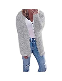 CieKen Women's Casual Coat, Long Sleeve Cardigan Casual Jacket Outwear
