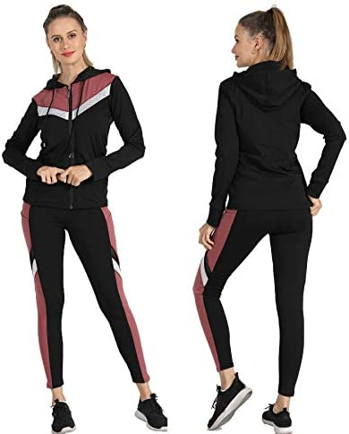 Active Wear Sets-Workout Clothes Gym Wear Track Suits Jacket Pants 3 Pieces Set