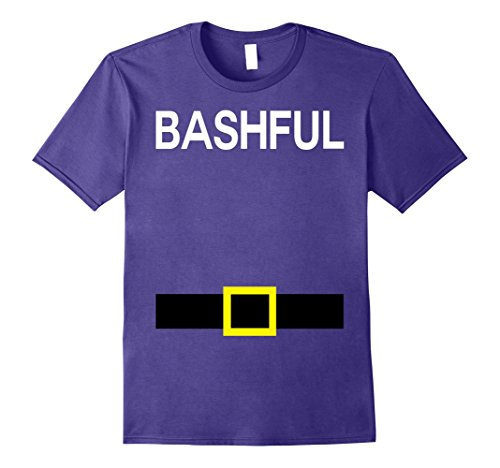 Mens Bashful Dwarfs Names Halloween Group Costume TShirt Matching XL Purple