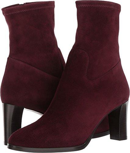 Lk Bennett Kvinna Kayla-str Mode Boot Röd Oxblood Stretch Mocka