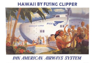Honolulu Clipper (Honolulu Clipper Art Poster Print, 36x24)