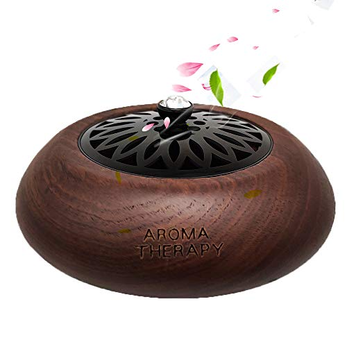 VOJO Wooden Essential Oil Diffuser Air Freshener Car Interior Ornament Decoration (Walnut Black) ()