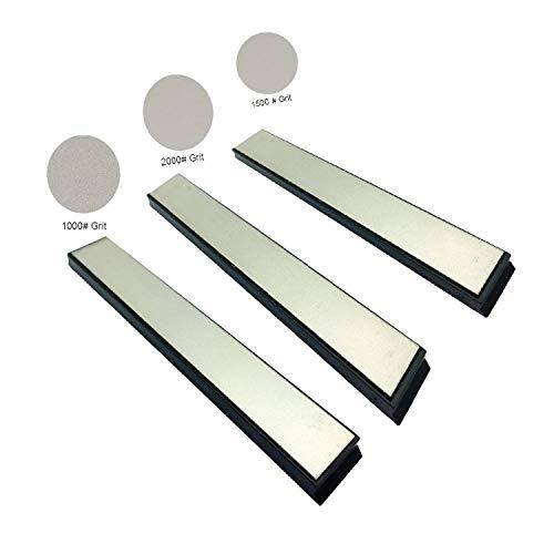 Lemonran Sharpening Stones Knife Diamond Whet Replacement Whet 1000+1500+2000 Grit 15020Mm,1000 1500 2000 Grit