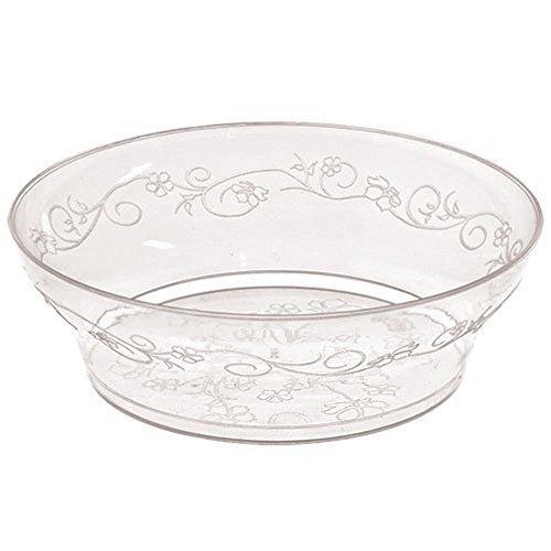 Hanna K. Signature Collection 40 Count D'Vine Bowl, 10-Ounce, Clear Plastic