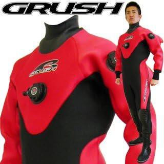GRUSHドライスーツ メンズ DRY SUITS RED Lサイズ