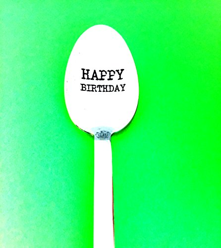 10 Rough Bowl (Spoon Happy Birthday-Engraved Spoon-Great Birthday Gifts by Weenca-Stainless Steel from Italy)
