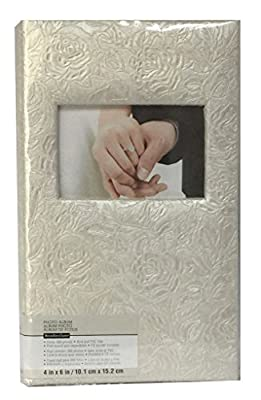 """Pearl Climbing Rose 3-UP Photo Album for 4"""" x 6"""" Photos with 300 Photograph Capacity 13.5"""" x 8.5"""""""