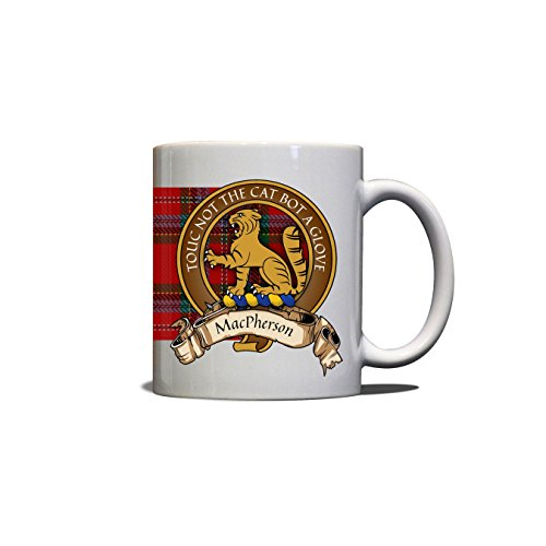 (MacPherson Scottish Clan Crest Motto Old Tartan Mug)
