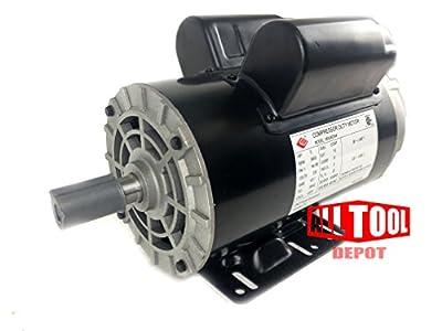 """5 HP 3450 RPM, 56 Frame, 230V, 22Amp, 7/8"""" Shaft, Single Phase NEMA Air Compressor Motor - EM-05"""