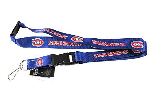 aminco Montreal Canadiens NHL Clip Lanyard Keychain Id Ticket-Blue ()