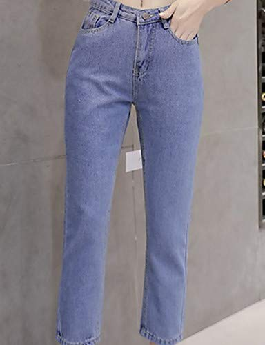 Donna Alta Pantaloni Blue Da Vita Unita Cotone Tinta In Jeans Yfltz wTX6aqS0S