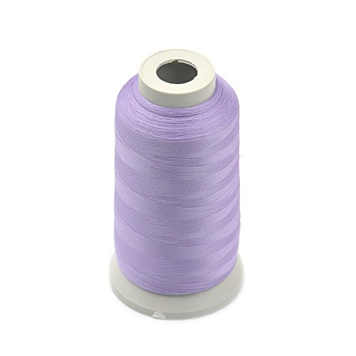 Fujiyuan 1 pcs Light Purple 3000 Yards Glow In The Dark Machine Embroidery Thread Sew 150D Optical Polyester by fujiyuan