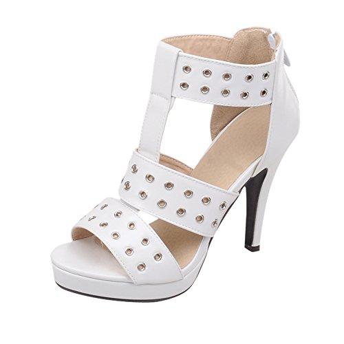 Charm Sandalo Donna Moda Estate Piattaforma Tacco Alto Sandalo Open Toe Bianco