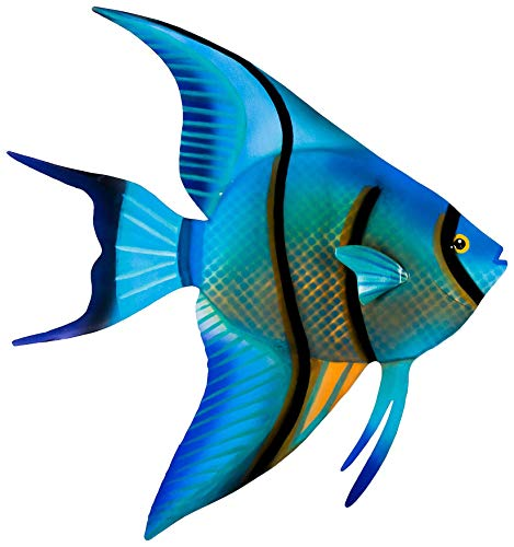 - T.I. Design Angel Fish Metal Wall Art One Size Blue/Black/Yellow