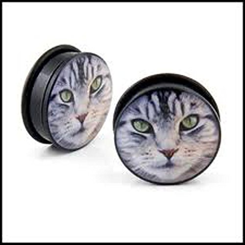 Price comparison product image Cat Acrylic Plug / Gauge 2 Pcs. (0G(8mm))