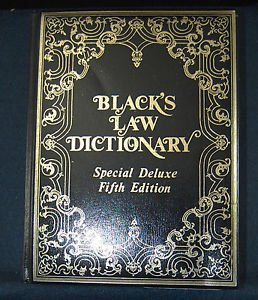 Black's Law Dictionary: Special Deluxe Fifth Edition