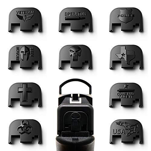 MakerShot 3D Aluminum Slide Cover Plate - Glock 17-41 Gen 1-4 (Punisher Skull)