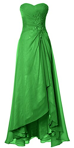 Elegant Formal Gown MACloth Strapless Dress Hi Party Simple Lo Prom Wedding Green OxwZ1x