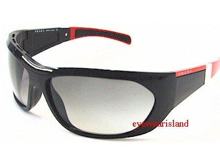 f2aa334d7b511 Prada Sps 04H Sps04H Grey Gradient Lens 7Ov-3M1 Gloss Black Sunglasses -  Size  69-14-125  Amazon.co.uk  Clothing
