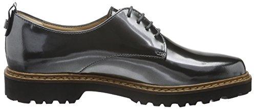 Sioux Vedia-161, Zapatos de Cordones Derby para Mujer Gris - Grau (Steel)