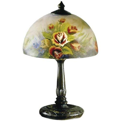 Dale Tiffany 10057/610 Rose Dome Table Lamp, Antique Bronze and Glass Shade (Dale Tiffany Garden)