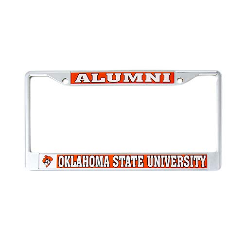Desert Cactus Oklahoma State University Alumni Metal License Plate Frame for Front Back of Car Officially Licensed OSU Cowboys (Alumni)