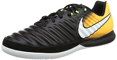 Nike Herren Tiempox Finale IC Fußballschuhe Schwarz (Black/white-laser Orange-volt-black)